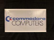 "Commodore Computers 20""x35.5"" Banner Dealer Sign Replica 64 128 Amiga"