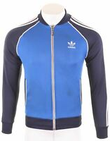 ADIDAS Mens Tracksuit Top Jacket Small Blue Polyester Vintage BP02