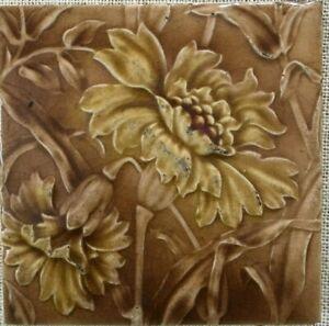 ENGLAND antique tiles majolica vintage rare collectible nouveau Sherwin & Cotton