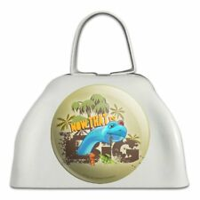 Now That is Big Dinosaur Train White Metal Cowbell Cow Bell Instrument
