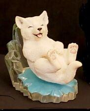 Arctic Antics Cool Slide 1998 The Hamilton Collection White Ice Puppy Sculpture