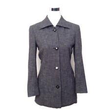 CELINE PARIS Jacket 36 Gray Long Boyfriend Blazer Women's VTG Career Long Sleeve