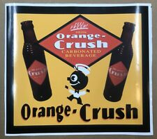 """ORANGE CRUSH SODA ADVERTISING DECAL APPROXIMATELY 12"""" WIDE *Gas & Oil"""