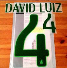 Brazil WORLD CUP 2014 Home Shirt 2014-15 DAVID LUIZ#4 SportingiD Name Number Set