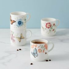 Lenox Butterfly Meadow Stack / Stacking Mug Set of 4 (10 Oz)