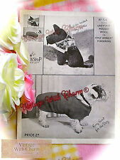 Vintage 1930s Knitting Pattern For Dog Coat & Scottie Dog Childs Toy