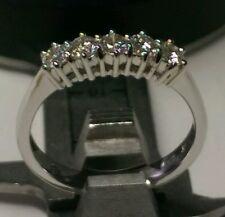 Anillo eternidad diamantes naturales 0,75 ct oro blanco 18 ct descuento 50% Boda