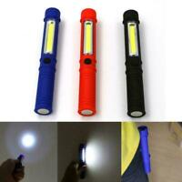COB LED Pen Light Inspection Lamp Pocket Work Torch Magnetic Flashlight Fast