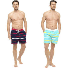 Mens Swim Striped Print Elasticated Shorts Beach Summer Mesh Lined