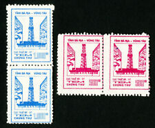 North Vietnam Stamps Lot of 2 Oil Well Revenues