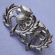 Vintage Silver Pierced Metal SCOTTISH Thistle Cufflinks