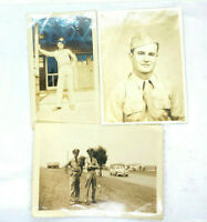 Lot of 3 Vintage Photographs Photos Airmen Uniform Air Force Barracks Airman