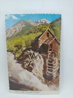 Vintage Ghost Mill Colorado Rockies Postcard Waterfall Forest Mountains