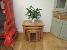 VANCOUVER OAK NEST OF 3 TABLES VERY SOLID AND STURDY SAL007