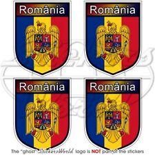 "ROMANIA Bucharest ROMANIAN Shield 2"" (50mm) Vinyl Bumper-Helmet Sticker-Decal x4"