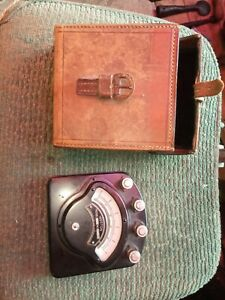 Vintage Weston Electric DC Ampmeter In Leather Case
