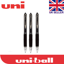 3 x Uni-ball Signo 207 0.7mm Tip Gel Ink Rollerball Black Pen CHEAP