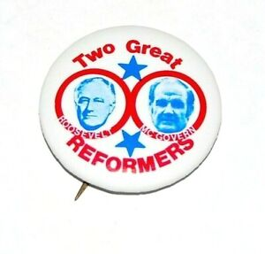 """1972 GEORGE MCGOVERN 1.25"""" FRANKLIN ROOSEVELT FDR campaign pin pinback button"""
