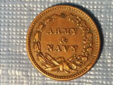 Army and Navy 1863 Civil War Token.