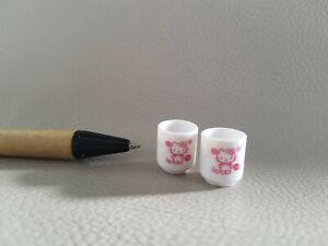U181 Dollhouse Hello Kitty White Tea Cup Japanese Cup Miniature re-ment 1:12