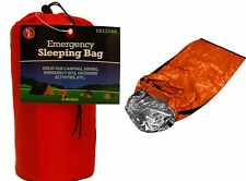 "Emergency Aluminized Sleeping Bag Camping Outdoor Survival  84""x36"""