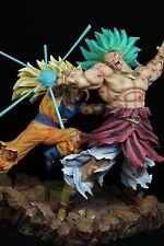 Dragonball Kai Goku 3 VS Broly 3 Battle Scene Resin Statue Diorama NEW DJCA