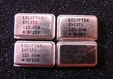 ECLIPTEK 125MHz Oscillator EH13TS-125.00MHz, DIP-14, Qty.4