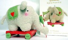 HALLMARK  Baby's First Christmas Elephant Wagon- LI'L PEANUT- New in Box 2012