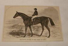 1879 magazine engraving ~ Sir Bevys, Winner of 1879 Derby
