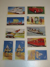 Transport through the ages, clover , coopers tea and Ewbanks  - original cards