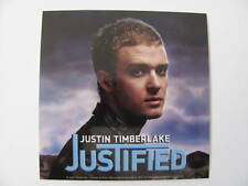 Justin Timberlake Jt Photo 4x4 Justified BumpEr Blue Color Music Sticker
