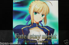 """JAPAN DVD and Book set: Fate/stay night """"curtain raiser"""""""