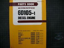 Komatsu 6D105-1 Loader Engine Parts Manual Book catalog