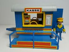 Dificil Taquilla Playmobil 3510 Antiguo Remolque Circo Circus Azul Ticket Caseta