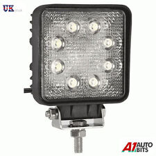12V 24V SQUARE 24W 8 LED WORK FLOOD LIGHT LAMP CAR JEEP TRUCK BOAT OFFROAD ATV