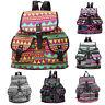 Womens Girls Canvas Rucksack Buckle Backpack Travel School Shoulder Hiking Bags