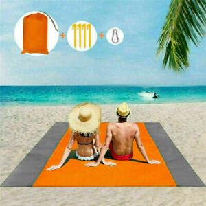 Beach Blanket Sand Proof Lightweight Sand Mat Outdoor Pocket Blanket Best