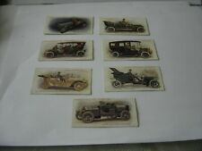 7 LAMBERT & BUTLERS CIGARETTE CARDS 1908 MOTORS VERY RARE nos 1 INCLUDED