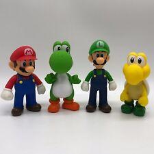 4X Super Mario Bros. Mario Luigi Yoshi Koopa Troopa PVC Figure PlasticToy 5