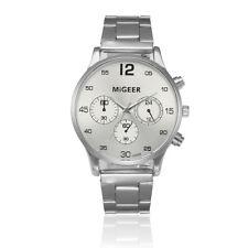 Luxury Men's Crystal Stainless Steel Watch Analog Quartz Business Wrist Watches