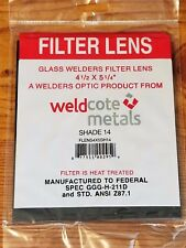 """Shade 14 Welding Lens for Total Solar Eclipse 4-1/2"""" x 5-1/4"""" Brand New"""