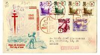 Sobre primer dia sellos de España 1949 Pro Tuberculosos SPD