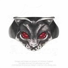 Alchemy Gothic Egyptian Cat Ring - Bastet Goddess Fine English Pewter R224 L