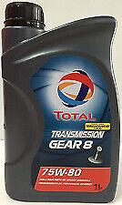Total Transmission Gear 8 75W80 Manual Gear Box Oil 1 Litre Citroen Peugeot PSA