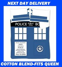 DR WHO TARDIS QUEEN QUILT DUVET COVER SET,COTTON MIX, Doctor Who