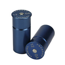 Tourbon Training 12 GA Gauge Shotgun Aluminum Snap Caps Dummy Rounds Blue 2 Pack