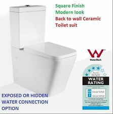 Toilet Suite Back To Wall Bathroom S & P TRAP Ceramic Soft Close Seat WATERMARK
