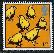 """""""Farm Animals - Chicks"""" illustrated on 2005 Stamp - U/M"""