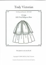 Truly Victorian sewing pattern for 1851 petal ballgown skirt TV246