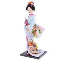 Exquisite Japanese Kimono Doll Kabuki Statue Geisha Figurine Home Decor #5